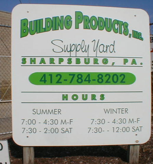 building products supply yard