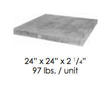 limestone column cap size