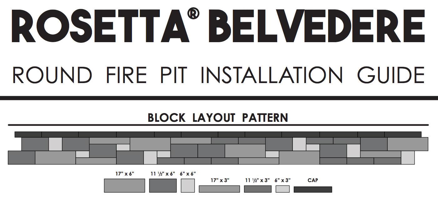 rosetta belvedere round fire pit guide