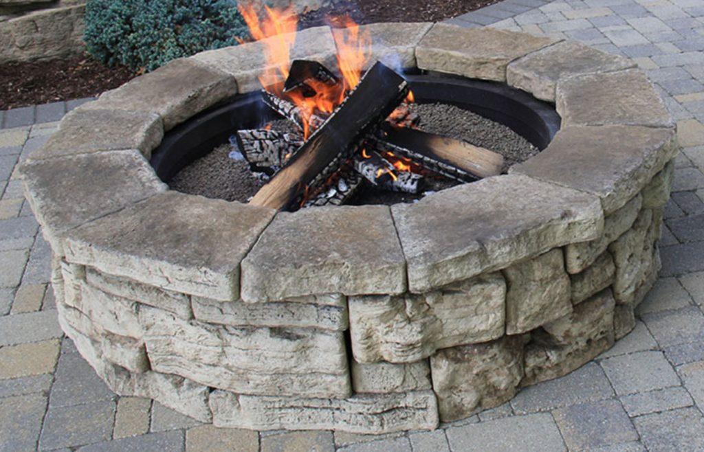 rosetta belverdere round fire pit