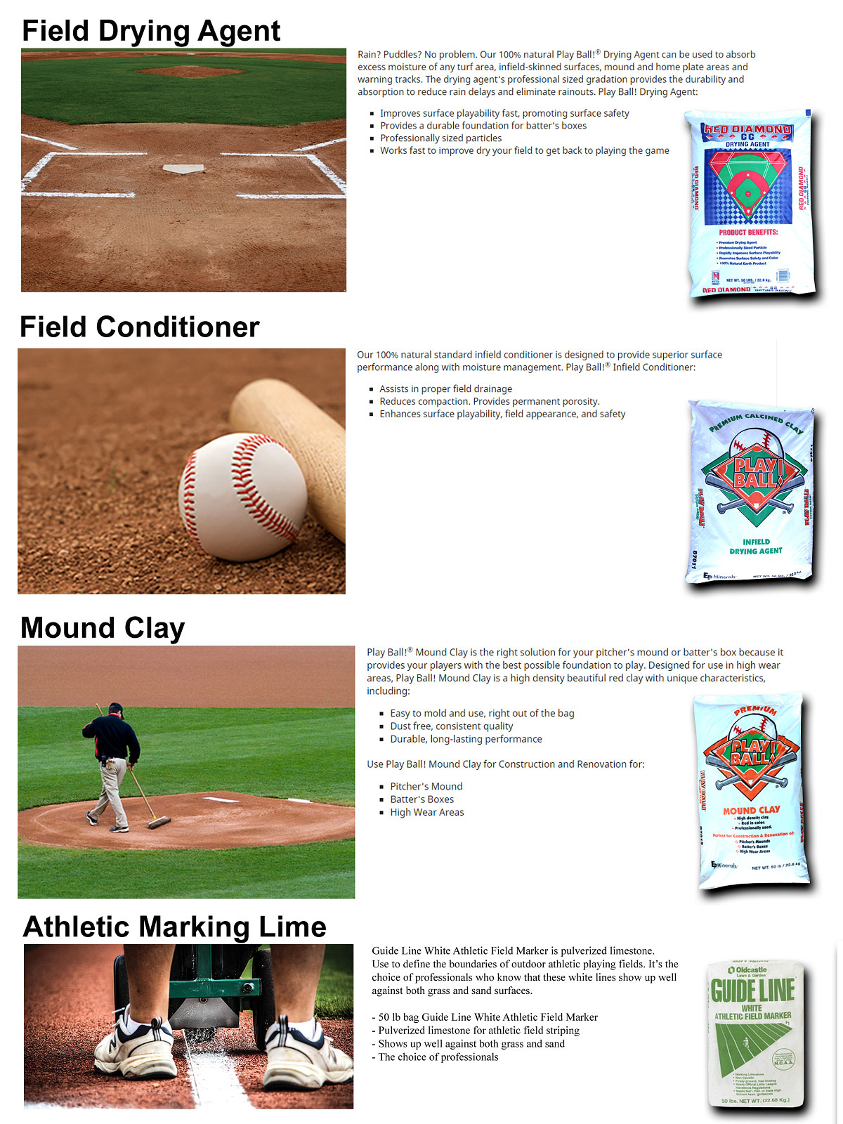athletic field products