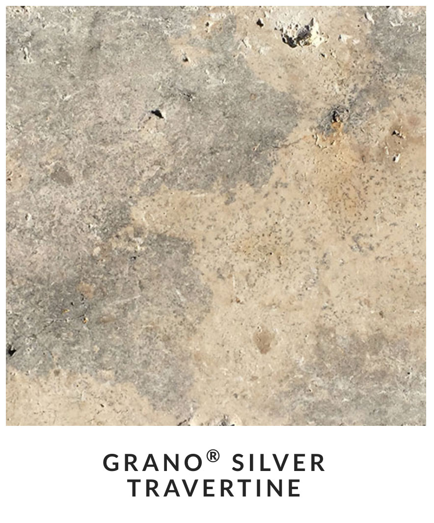 grano silver travertine