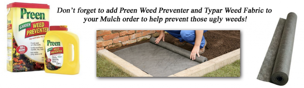 preen weed preventer and typar weed fabric